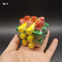الصليب لغز ألعاب خشبية ملونة للأطفال الدماغ لعبة لو بان قفل الطفل الوسائل التعليمية هدايا عيد الميلاد