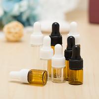 2 3 5 ML 미니 앰버 유리 에센셜 오일 스포이드 병 리필 빈 눈 스포이드 향수 화장품 액체 로션 샘플 보관 용기