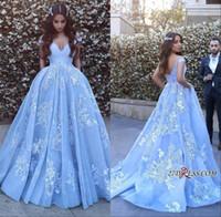 Sheer Ice Blue Spitze formale Abschlussball-Kleider 2020 mit sexy Rückenfreies Arabisch Kleid Abendgarderobe Sleeveless Nixe-Festzug-Kleider Plus Size