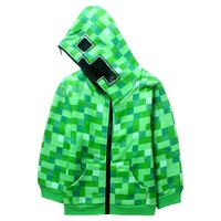 cute kids hooded jacket coat green plaid plus thick sweatshi...