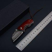 Yeni Gergedan A02 Küçük Cep Katlanır Bıçak Şam Bıçak Ahşap Kolu Açık Taktik Kamp Avcılık Survival EDC Koleksiyonu Hediye Aracı