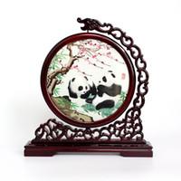 Chengdu Shu Brocade Chuan bordado dupla face bordados artesanato bordados ornamentos em estilo chinês lembrança presentes