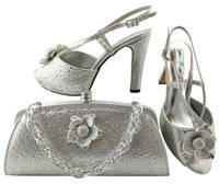 Elegant Teal Shoes Dress Flower Match With Rhinestones For African Handbag And Decoration Set Series Bags MM1040,heel 11CM Svbbg