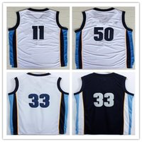 1fbaca80079 ... Blue Wholesale 11 Mike Conley Basketball Jerseys Men 50 Zach Randolph  33 Marc Gasol Jersey Stitched Navy ...