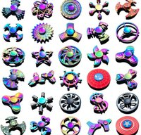 2018 Christmas Fidget spinners rainbow new metal Fidget Spin...
