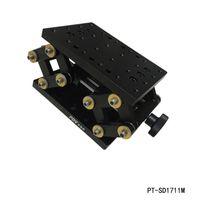 Asse manuale preciso asse Z Ascia da laboratorio manuale Livello traslativo verticale Elevatore a scorrimento scorrevole ottico 55mm PT-SD1711M da viaggio