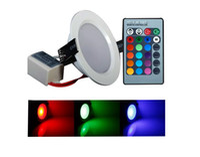 Sıcak satış Dim Downlight 5 W 10 w gömme RGB LED panel işık beyaz AC ile uzaktan tavan 85-265 V 110 V 220 V Downlight Noel LLF