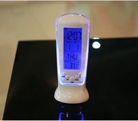 Digital LCD Alarm clock calendar thermometer Backlight Multi...