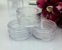 Contenitore di plastica vaso vaso 5 gram crema cosmetica occhio ombretto chiodi in polvere gioielli 0.17oz chiaro vuoto