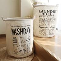 Groothandel nieuwe 40 * 50 cm waterdichte vuile vat vouwen speelgoed creatieve kleding mand beha stropdas sokken opbergdoos tas bakken organizer wasserij