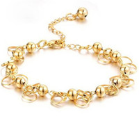 Изысканные свадебные украшения 18K золотая пластина аллергия бесплатно никогда не исчезают браслет-цепочка для дамы браслет руки ювелирные изделия Рождественский подарок