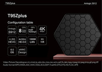 Amlogic S912 Caixas de TV T95Z Plus 2 GB 16 GB Octa núcleo 2.4G / 5G WIFI BT4.0 4 K H.265 KD17.1 Android 7.1 Caixa de TV Inteligente DHL