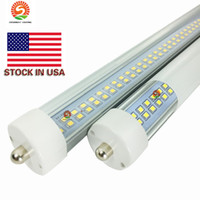 Pin único FA8 8 pies led tubo t8 luces lados dobles 72 W LED tubos fluorescentes luz 85-265 V Stock en EE. UU.