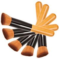 Pequenos detalhes planos escova de fundação Pincéis de maquiagem universal maquiagem escova Escova de cabeça oblíqua cabo de madeira