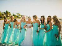 달콤한 해변 들러리 드레스 시폰 청록색 층 길이 여름 웨딩 게스트 파티 착용 하녀 명예 가운 2019