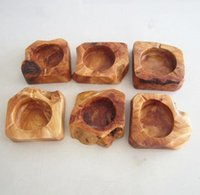 Wooden Round Ash Holder Smoke Cigarette Ashtray Pocket Ashtr...