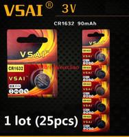 25 قطع 1 وحدة cr1632 3 فولت بطارية ليثيوم أيون زر خلية البطارية cr 1632 3 فولت بطاريات ليثيوم أيون عملة vsai مجانية