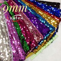 9mm encriptación lentejuelas de lentejuelas decoración de la boda fondo decoración trajes de tela lentejuelas hilo telas