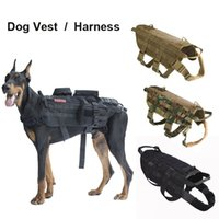 Tactical Hunting Dog Vest Molle System Harness Use Canine Tr...