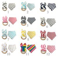 12 Styles New Baby Bibs+ Teething Ring Teeth Stick 2pcs Sets ...