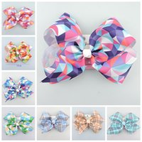 20pcs jojo 18cm gingham plaid Ribbon Cheer ABC hair Bows cli...