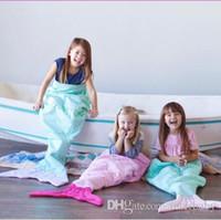 Meerjungfrau Shark Decken Meerjungfrau Schwanz Decken Meerjungfrau Schwanz Schlafsäcke Sofa Nap Camping Swaddle Fischschwanz Kostüm Cocoon Matratze B2335