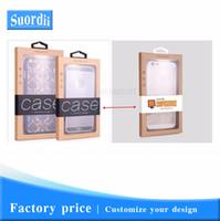 Personnaliser Logo Universal Phone Case Cover Kraft papier d'emballage pour l'iPhone 8 Vitrine emballage de vente au détail