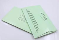 일반 중간 품질 7 x 10 cm 보석 천 클리너 개인 종이 상자 100pcs 실버 청소 도구와 천으로 연마