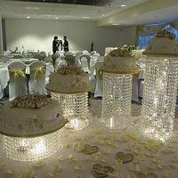 Carrinho de bolo de cristal peça central Do Bolo de Casamento Exibir decoração de Aniversário