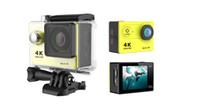 "2017 Orjinal H9R 4K Ultra HD Eylem Kamera 2"" 170B Wifi 30M Sualtı Kask Kamera Git Su geçirmez Pro Sport Kamera"