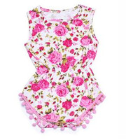 2017 Yeni Yenidoğan Giysileri Bebek Tulum Kız Tulumlar Fasulye Moda Altın Polka Noktalar Çiçek Leopar Baskılı Toddler Giyim onesie A6339
