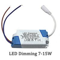 LED-stuurprogramma 7-15W ingangsspanning AC85-265V-uitgang 21-53VDimming transformatorsvoeding voor paneellicht Downlight Plastic Big Power