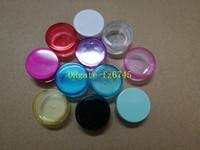 100pcs / lot liberano il trasporto 2g 2ml piccoli vasi rotondi della bottiglia della crema, contenitore di plastica 2cc per la scatola del campione di immagazzinaggio di arte del chiodo