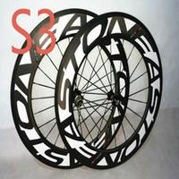 AWST TC 90 화이트 / 옐로우 / 레드 / 핑크 / 블랙 로고 88mm 카본 자전거 카본 휠 U 형 도로 자전거 바퀴 482 허브 바퀴 무료 배송