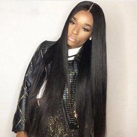 Long straight full wig simulation brazilain human hair middl...