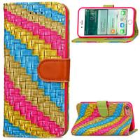 Rainbow Abstract Stand Wallet Case para iPhone 6 6s 7 7 Plus con marco de foto ID Slots Holder de tarjeta de cuero de la PU cubierta del teléfono Flip Cases Hebilla