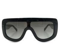 النساء CL41377 / S البلاستيك الأسود درع النظارات الشمسية رصاصى تدخين عدسة مكبرة فاشون جديدة مع B