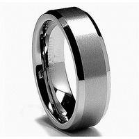 Queenwish Jewelry 8mm Bague en carbure de tungstène blanc Bague de mariage pour homme Son promesse de haute alliance de mariage polonais pour lui et ses couples