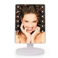 LED Touch Screen Make Up Mirror 360 Degree Rotation Cosmetic...