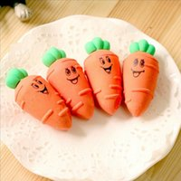 2pcs set poly bags packed novelty Carrot rubber eraser creat...