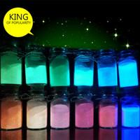 Оптовая продажа-12 цветов мода супер яркое свечение в темноте порошок свечение световой пигмент флуоресцентный порошок ярко цветной порошок #78752