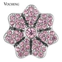 NOOSA Ginger Snap Charms Full Bloom Lleno de cristal botón joyería 18 mm 4 colores VOCHENG Vn-1768