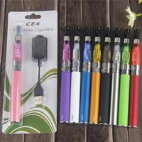 EGO CE4 Starter Kit CE4 EGO Blister kit 650mah 900mah 1100mah EGO-T batteria con 1.6ml atomizzatore CE4 e caricatore USB