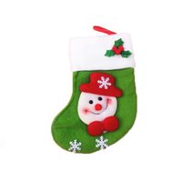 Wholesale- 6pcs mini Christmas stocking   socks candy bag Chr...