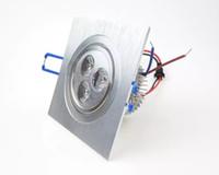 Luces LED para montaje empotrado cuadrado Punto de techo 6W 3W 110V 220V 230V Proyector empotrable Lamparas para supermercado Salón CE ROSH DHL