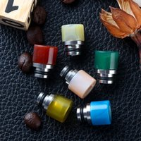 New Agate Stone Drip Tip 510 Mouthpieces Colourful Jade Stia...