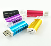 Lighter Shaped All In One USB 2. 0 Multi Memory Card Reader f...