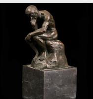 الفنون والحرف النحاس البرونز atlie البرونزية الشهيرة الاستنساخ رودان تحفة المفكر تمثال الرخام قاعدة خمر تمثال