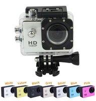 كاميرات عمل كاميرا كاميرا كاميرا سيارة مسجل 1080P Full HD 5.0MP 2.0 بوصة وشاشة Helemet 30M للماء DV DVR DHL FREE
