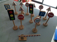 New Wooden Baby Toys Traffic Sign Baby Educatinal Toys Baby ...